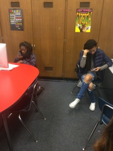 Kenwood Students are sitting in class on their phones not even communicating. Phones can prevent bonds and relationships with your peers around you.