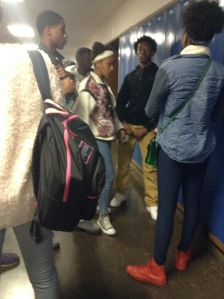 Kenwood Freshmen and Sophomores gather around after school at their lockers to have a conversation on what may seem to be an enticing conversation