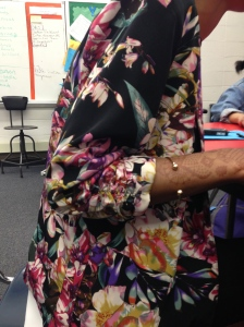 Sophomore Cemarah Spencer dons a floral blazer to show off her unique sense of style.